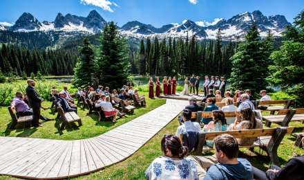 Mountain weddings at Island Lake Lodge in Fernie B.C.