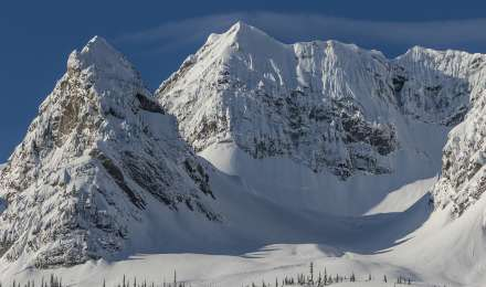 Catskiing terrain at Island Lake Lodge